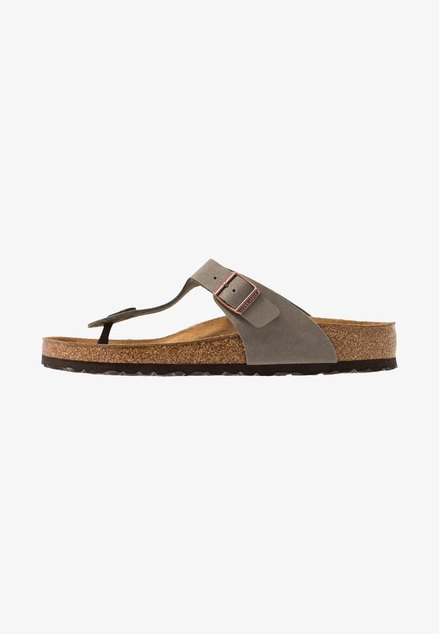 GIZEH - T-bar sandals - stone