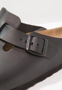 Birkenstock - BOSTON - Slippers - black - 5