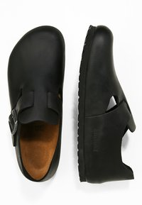 Birkenstock - LONDON NARROW - Slippers - black - 1