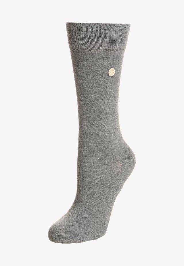 Strømper - mid gray melange