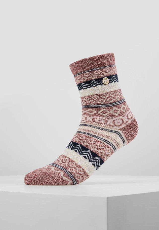 Socks - tawny port