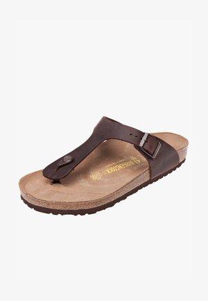 GIZEH - Sandály s odděleným palcem - habana