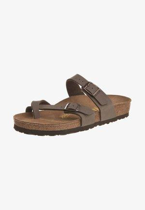MAYARI - T-bar sandals - mocca