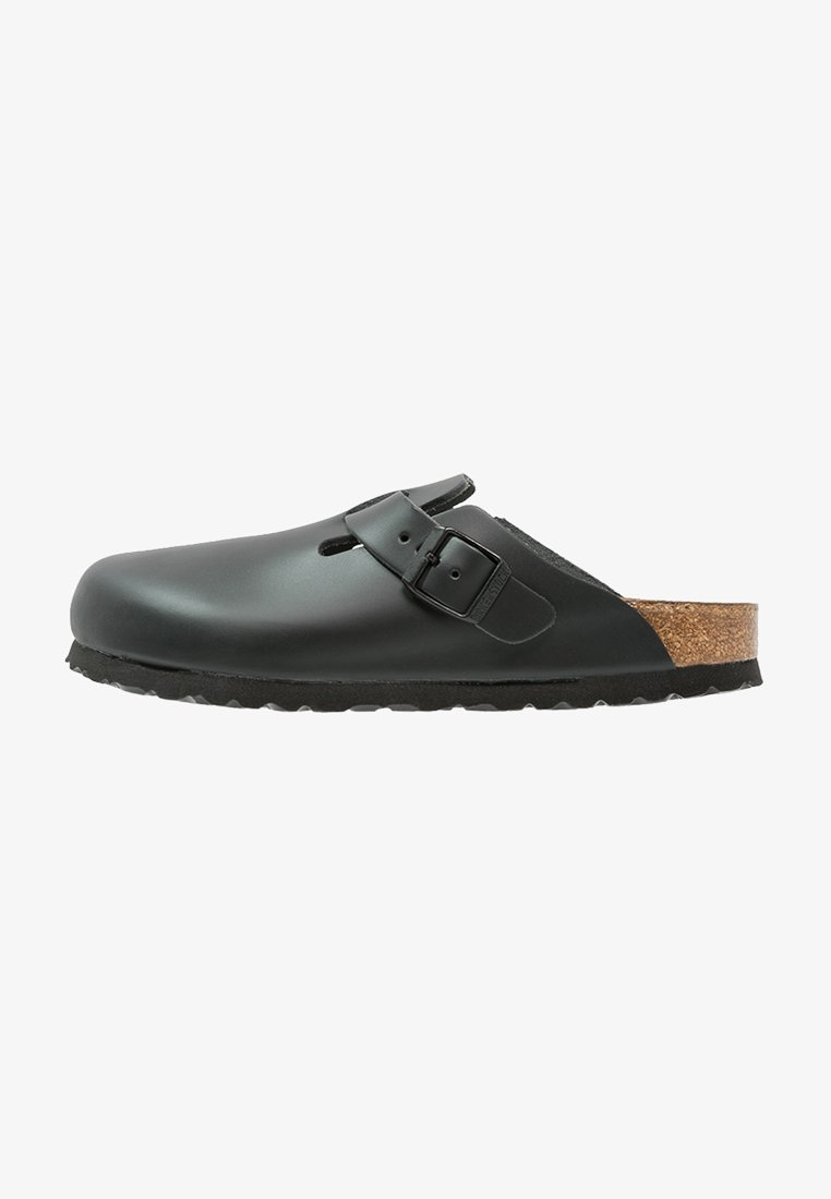 Birkenstock - BOSTON NARROW FIT - Pantuflas - schwarz