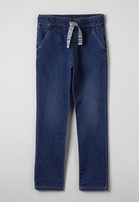 Bikkembergs Kids - STRAIGHT LEG - Straight leg -farkut - blue denim - 0
