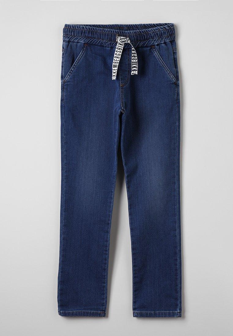 Bikkembergs Kids - STRAIGHT LEG - Straight leg -farkut - blue denim