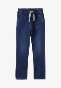Bikkembergs Kids - STRAIGHT LEG - Straight leg -farkut - blue denim - 3