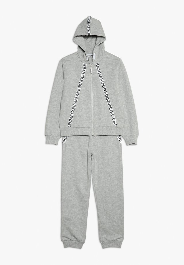 TRACKSUIT SET - Zip-up hoodie - grey melange
