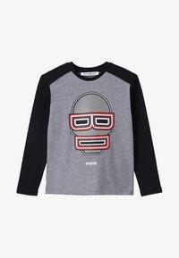 Bikkembergs Kids - LONG SLEEVES - Pitkähihainen paita - grey melange - 4