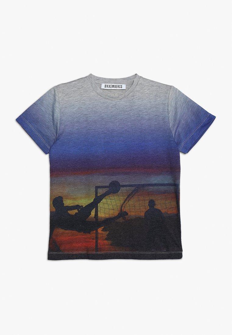 Bikkembergs Kids - T-shirts med print - grey melange