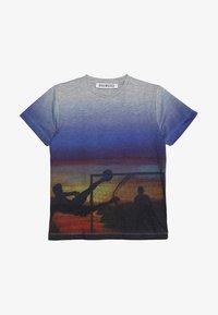 Bikkembergs Kids - T-shirts med print - grey melange - 2