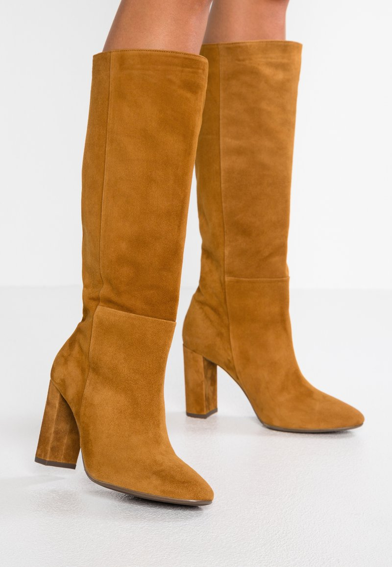 Billi Bi - High heeled boots - curry