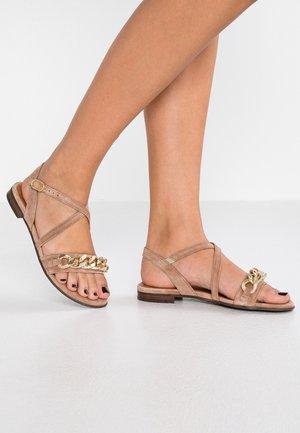 Sandály - nude/gold