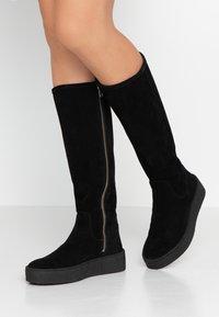 Billi Bi - Plateaustøvler - black - 0