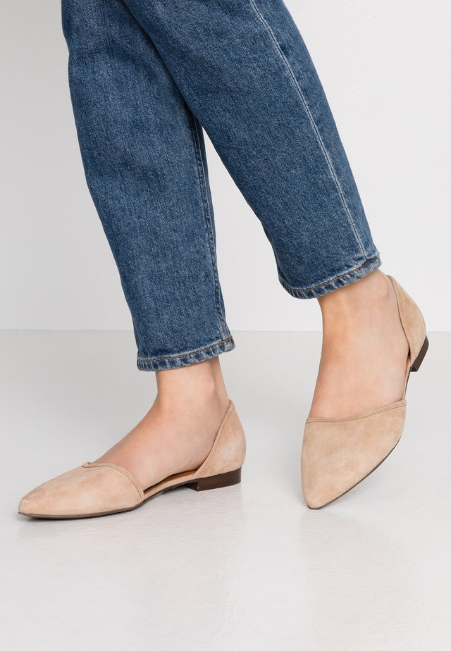 Ballet pumps - dark beige