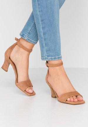 Sandals - brandy beige