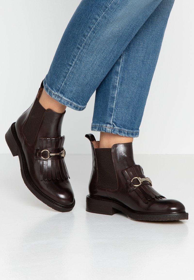 Billi Bi - Ankle boots - testa di moro/gold
