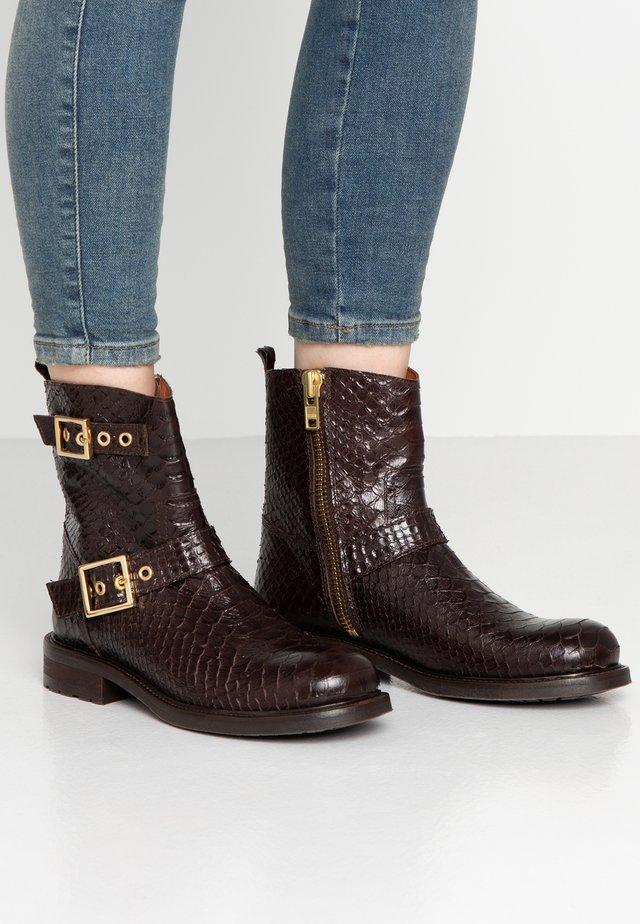 Cowboy/biker ankle boot - testa di moro/polo teneriffe