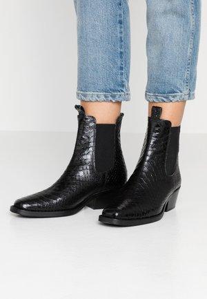 Cowboy/biker ankle boot - blackpolo teneriffe