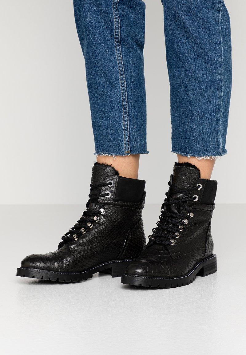 Billi Bi - Lace-up ankle boots - black oslo