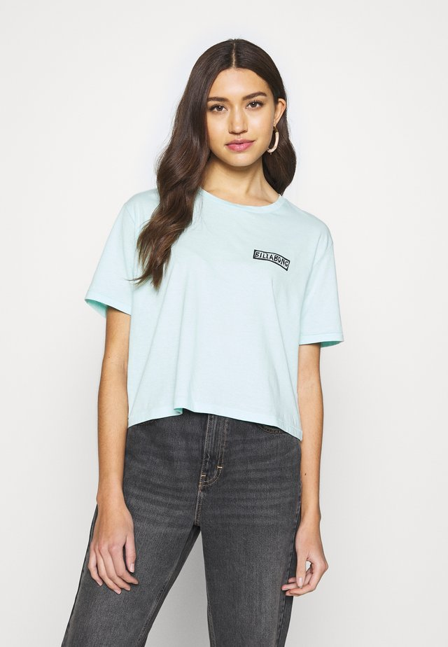 KNOW THE FEELING - T-shirt print - bleached aqua