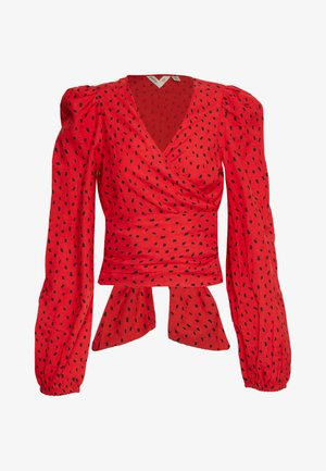 WRAPPED IN LOVE - Bluse - rio red