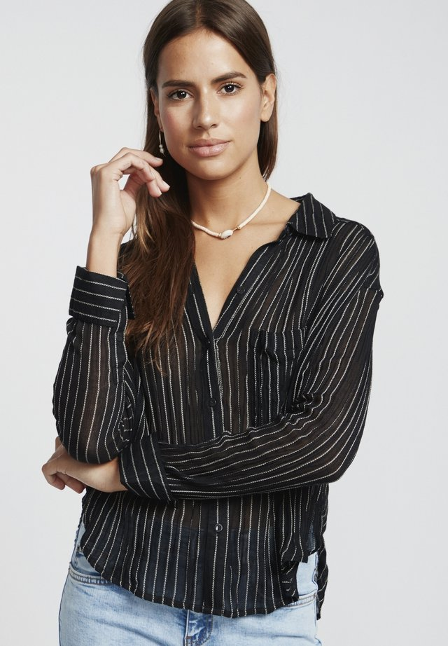 SWEET MOVES  - Button-down blouse - black