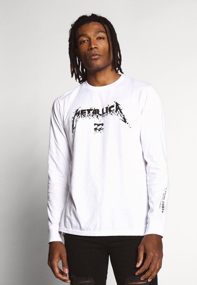 METALLICA - Langærmede T-shirts - white