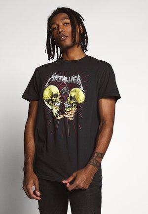 AI METALLICA - Camiseta estampada - black