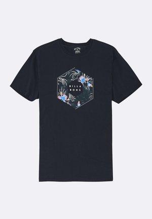 X CESS  - Print T-shirt - navy