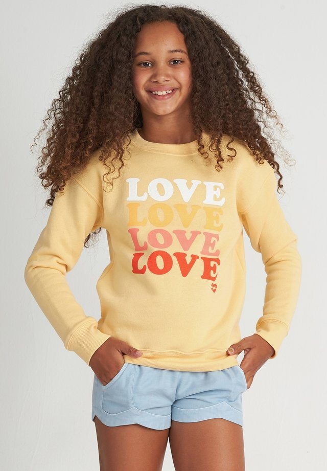 SO MUCH LOVE CR - Sweater - canary yellow