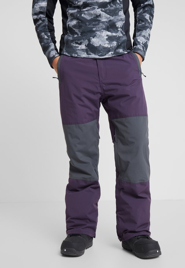 TUCK KNEE - Pantalón de nieve - dark purple