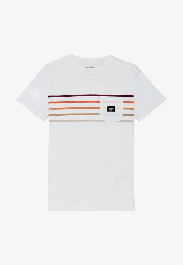 RIOT SPINNER - T-shirt imprimé - white