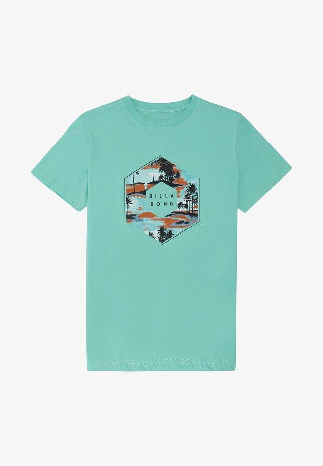 X CESS - T-Shirt print - light aqua
