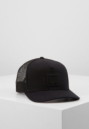 STACKED TRUCKER - Gorra - black