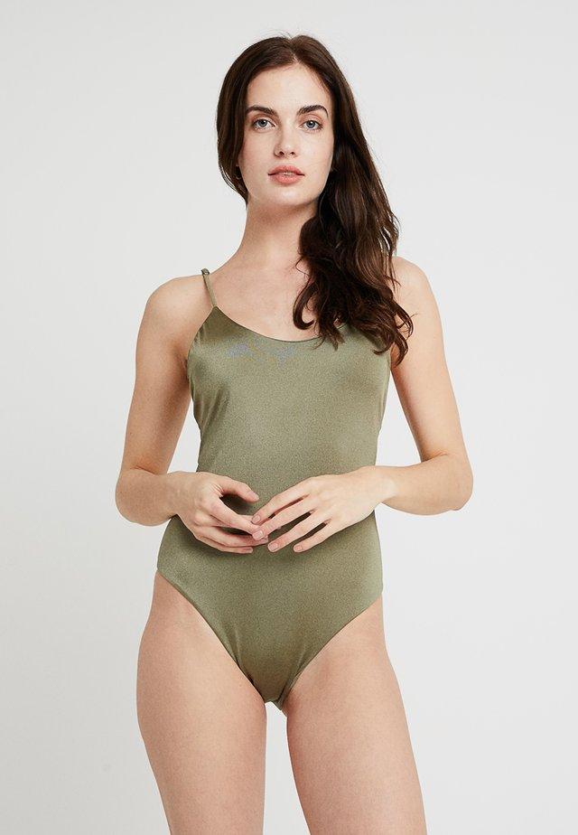 SOL SEARCHER LACE UP - Swimsuit - sage