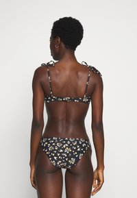 Billabong - SWEET SIDE KNOTTED - Góra od bikini - black pebble - 2