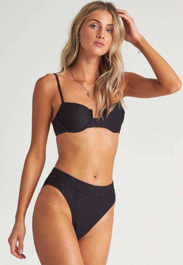 WAVE TRIP - Bikini top - black