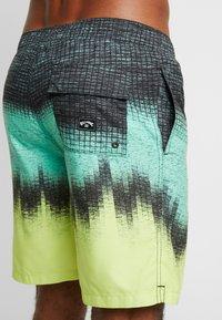 Billabong - RESISTANCE - Shorts da mare - black/light green/yellow - 1