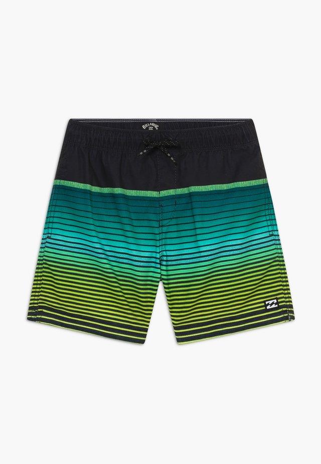 ALL DAY STRIPE BOY - Shorts da mare - black