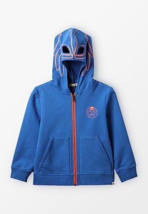 Mikina na zip - blaugrau
