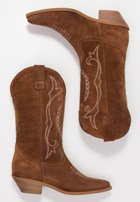 Bianca Di - Cowboy/Biker boots - dark brown - 3