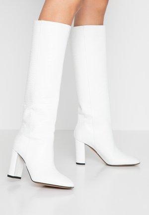 Laarzen met hoge hak - cocco bianco