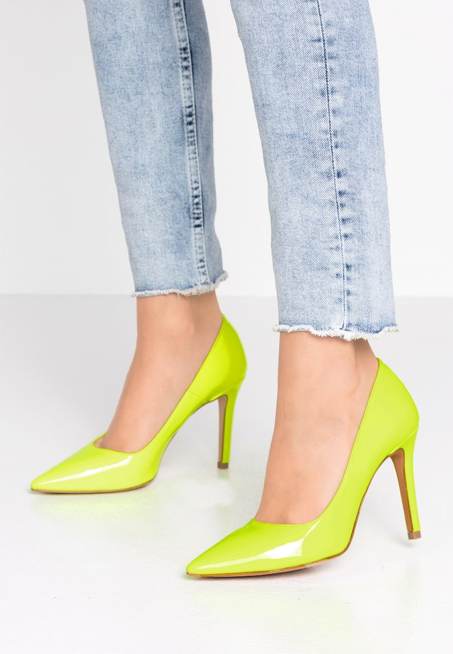 High heels - fluo giallo