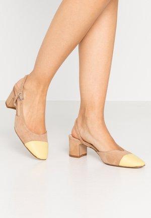 Classic heels - sabbia/banana
