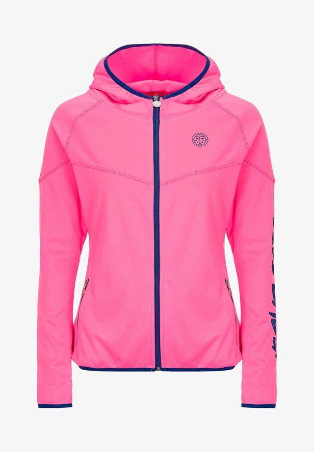 GRACE  - Training jacket - pink/dark blue