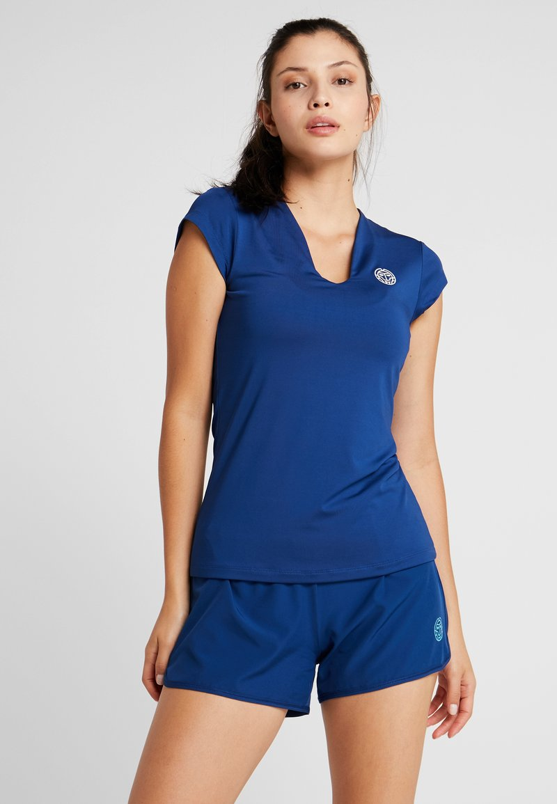 BIDI BADU - BELLA 2.0 TECH NECK TEE - Basic T-shirt - dark blue