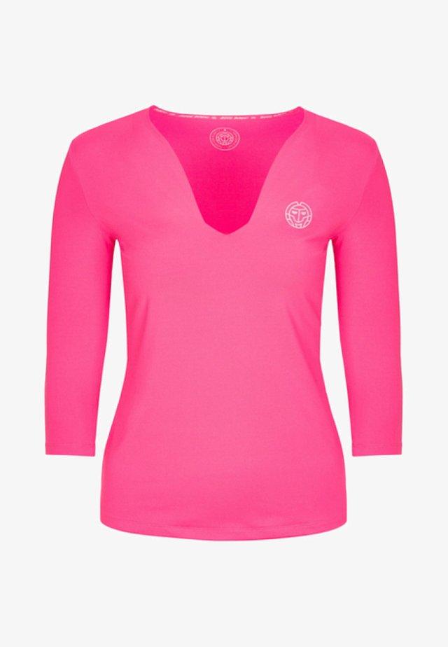 ARIANA TECH V NECK LONGSLEEVE - Long sleeved top - pink