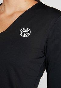 BIDI BADU - ARIANA TECH V NECK LONGSLEEVE - Camiseta de manga larga - black - 3