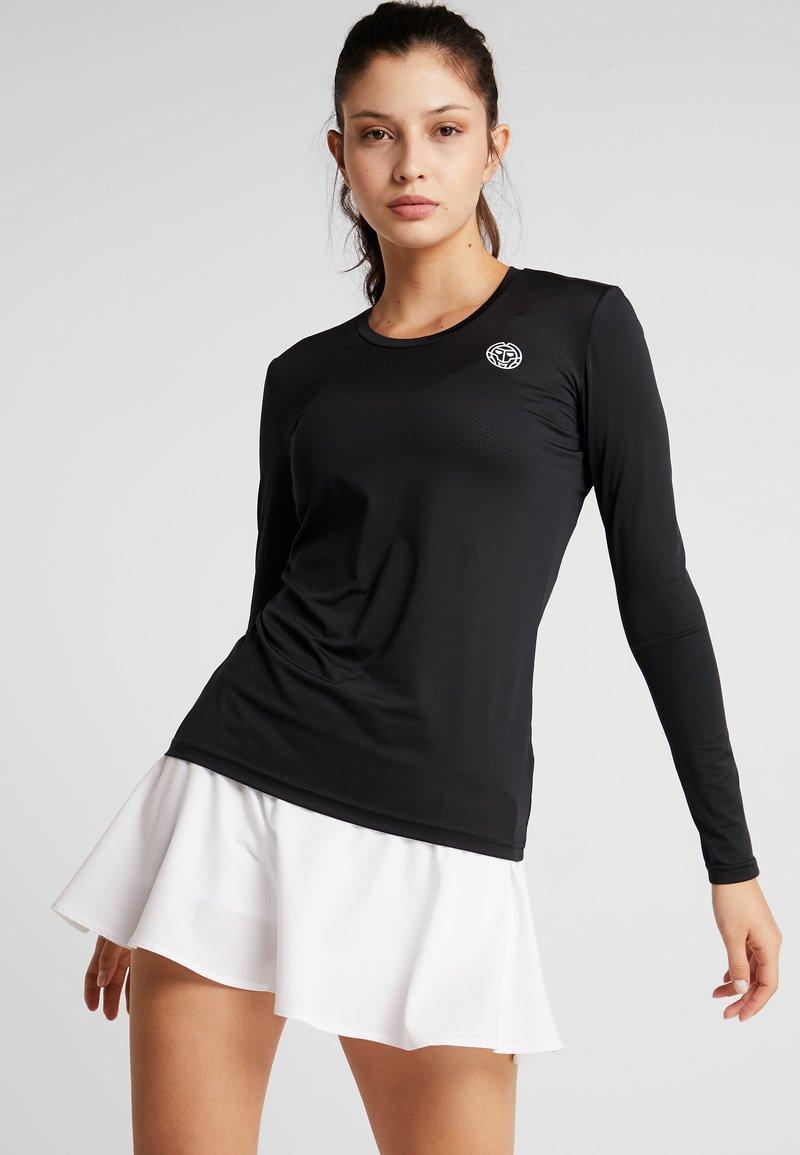 BIDI BADU - PIA TECH ROUNDNECK LONGSLEEVE - Langærmede T-shirts - black